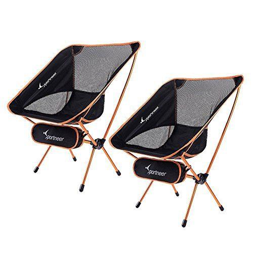Sportneer Portable Lightweight Folding Hiking Picnic Camping Chair
