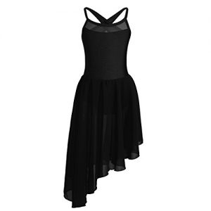 CHICTRY Kids Girl's Cutout Back Lyrical Dance Dress Irregular High-Low Skirt Ballroom Dancing Costumes