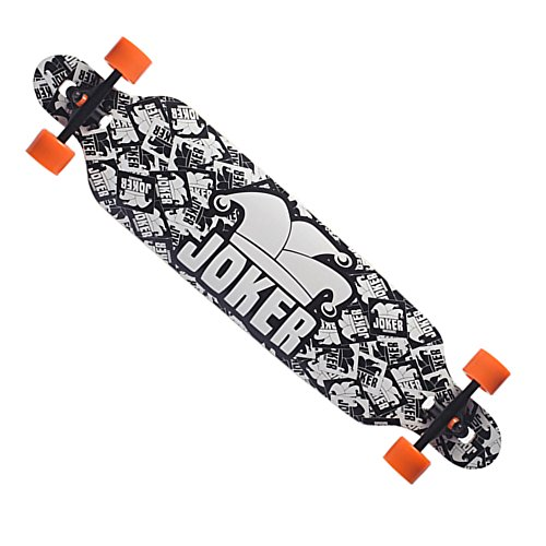 Backfire New Cruiser Drop Through Longboard Complete Professional Longboards, black and white