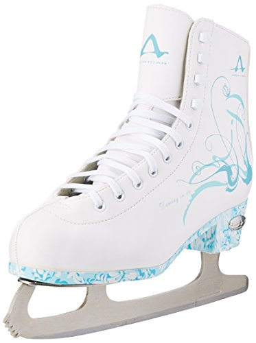 American Athletic Shoe Women's Sumilon Lined Figure Skates with Turquoise Outsole
