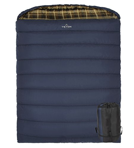 Teton Sports Mammoth Queen Size Sleeping Bag; Warm and Comfortable