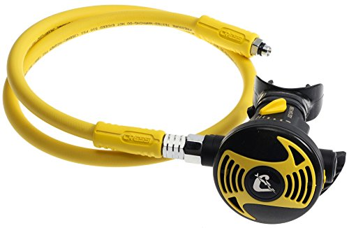 Cressi Octopus XS, light and flexible octopus for scuba diving, made in Italy, Yellow / Black