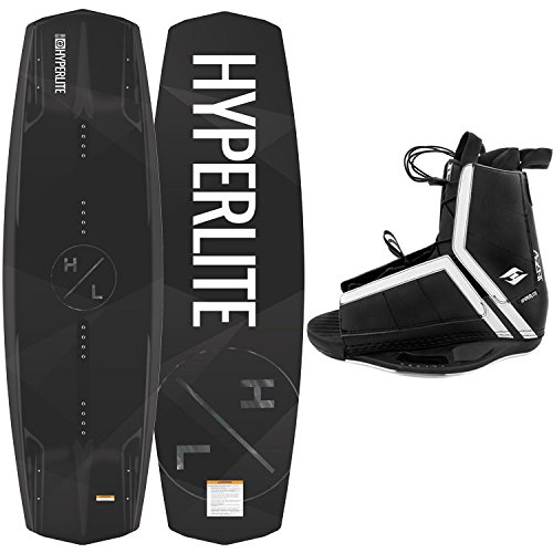 New 2018 Hyperlite Wakeboard Destroyer with Agent Wakeboard Bindings Fits Shoe Sizes 7-14!