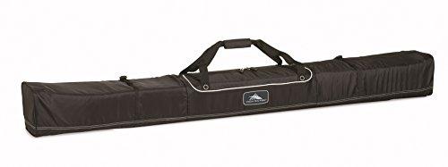 High Sierra Basic Ski Bag - Unpadded Ski Bag, Black - Large 185Cm
