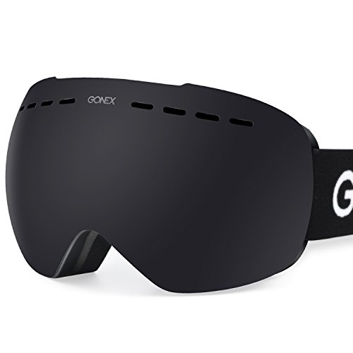 Gonex OTG Ski Goggles, Oversized Snow Snowboard Goggles Anti-fog UV Protection