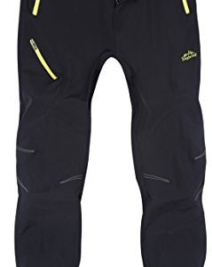 KAISIKE Men's Outdoor Quick-Dry Lightweight Breathable Waterproof Hiking Mountain Pants(05)