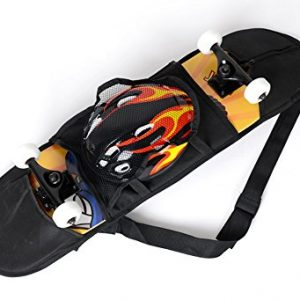 """Cooplay 32"""" 8"""" Black Skateboard Carry Bag Backpack Rucksack Straps with Mesh"""