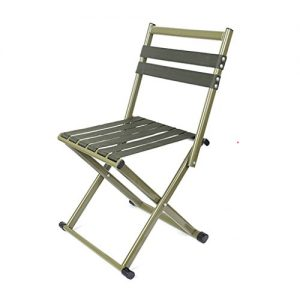 Mini Folding Stool With Backrest, Portable Camping Chair, Outdoor Slacker Ultra Light Seats For Hunting