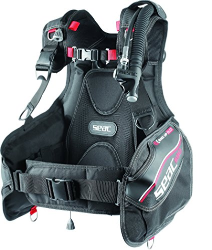 SEAC Ego Scuba Diving BCD, Black/Red