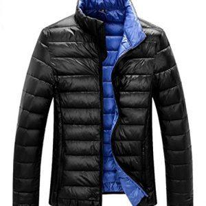 ZSHOW Men's Lightweight Stand Collar Packable Down Jacket