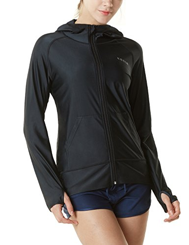 Tesla Women's UPF 50+ Full & Half Zip Front Long Sleeve Top Rashguard Swimsuit FSZ02/FSZ04