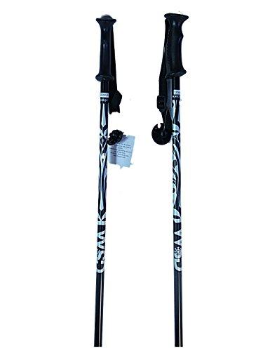 Ski poles downhill/alpine Aluminum black/silver Ski Poles pick size pair with baskets 2018 model