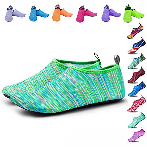 Peicees Mens and Womens Water Shoes Quick Dry Dive Beach Aqua Water