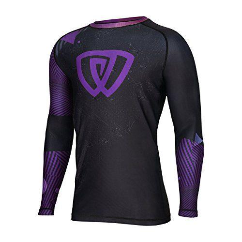 Antimicrobial Long Sleeve Competition Grade MMA Rashguard Shirt