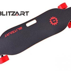 "BLITZART Tornado 38"" Dual Electric Skateboard Longboard 3.5"" PU Wheels"