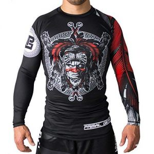 Primal Gear Aztec Warrior BJJ Compression Base Layer Rash Guard Shirt