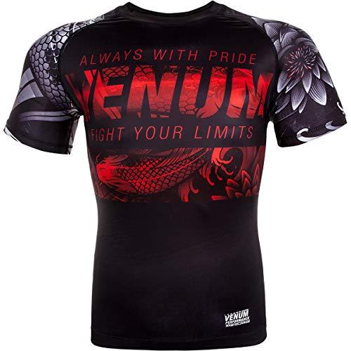 Venum Men's Koi 2.0 Short Sleeve Rash Guard Black/White