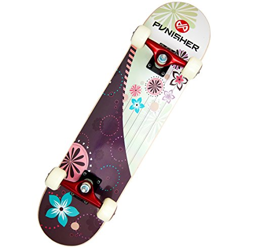 Punisher Skateboards Soul Complete 31-Inch Skateboard with Canadian Maple