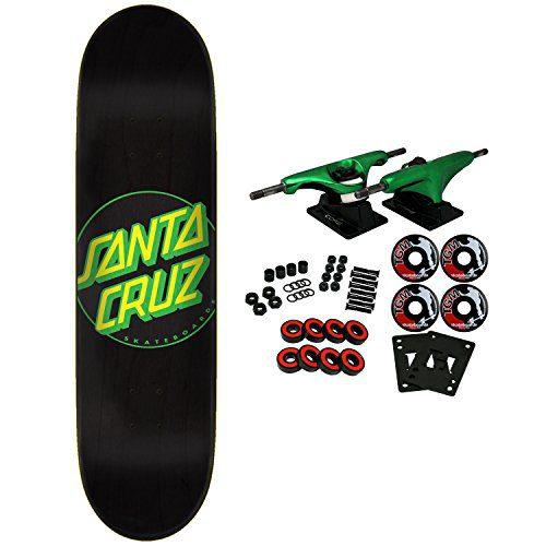 """Santa Cruz Skateboard Complete Classic Dot Black 8.25"""""""