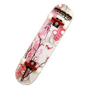 Punisher Skateboards Cherry Blossom Complete Skateboard