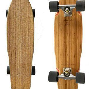 "LMAI 27"" Bamboo Wood Cruiser Complete Skateboard Longboard"