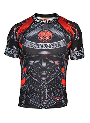 Ronin Samurai Blackout Ghost Rash Guard Base Layer Compression