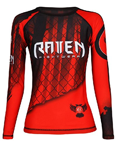 Raven Fightwear Women's The Red Rash Guard MMA BJJ Red