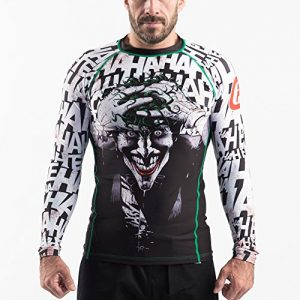 Fusion Fight Gear Batman The Killing Joke BJJ Rash Guard Compression Shirt