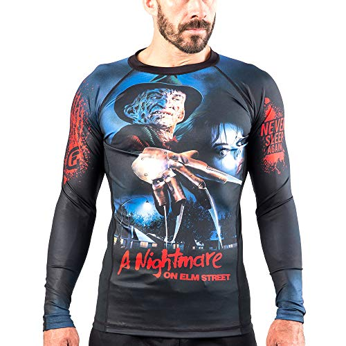 Fusion Fight Gear A Nightmare on Elm Street Compression Shirt BJJ Rash Guard
