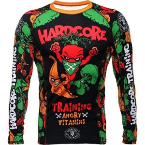 Hardcore Training Rashguard Angry Vitamins MMA Training Fitness