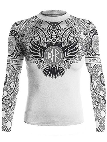 Raven Fightwear Women's Nordic Rash Guard IBJJF Approved MMA BJJ White