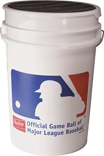 Rawlings Practice Baseballs & Bucket, Bucket of 30, ROLB1X