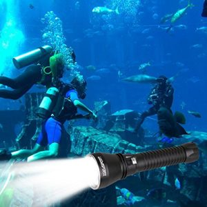 Powerful Underwater Waterproof Led Scuba Diving Flashlight