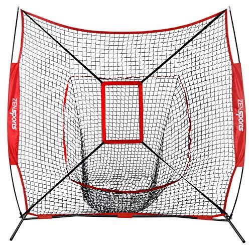 Baseball Softball Practice Net w/Strike Zone Hitting Batting Catching