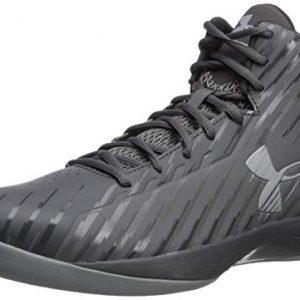 Under Armour Men's Jet Mid Basketball Shoe Black/Steel/White