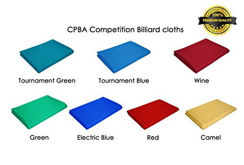 CPBA Competition Worsted Professional Pool Table Cloth