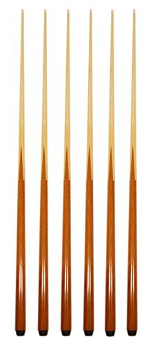 """Set of 6 Pool Cues New 57"""" Real 4-Prong House Bar Billiard Pool Cue Stick"""