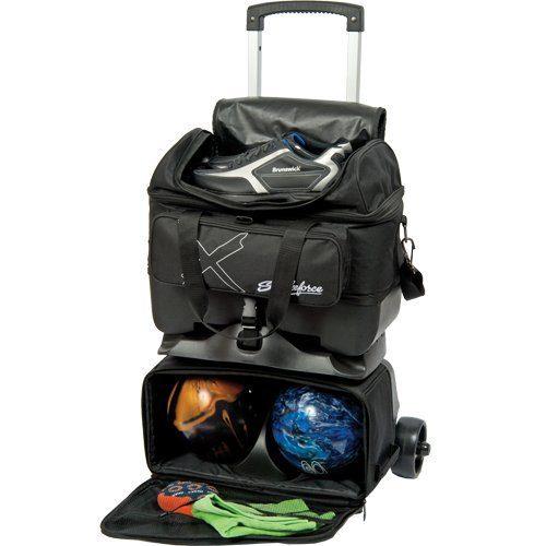 KR Strikeforce Hybrid X 4 Ball Roller Bag, Black