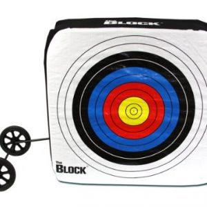 Block Bullseye NASP Archery Target with Removable Wheels