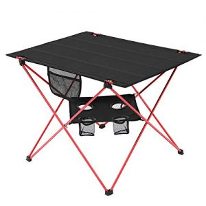 2 Tier Portable Lightweight Camp Table with Carrying Bag