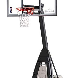 "Portable Basketball System - 60"" Glass Backboard"