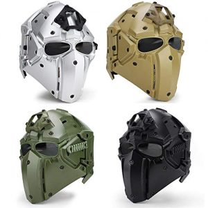Fast Tactical Helmet Cover Adjustable Full Face Mesh Mask