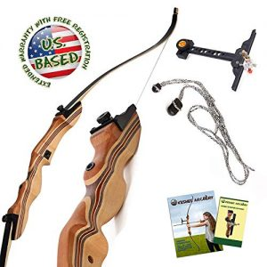 "KESHES Takedown Hunting Recurve Bow and Arrow - 62"" Archery"