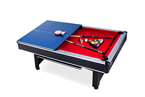 Rack Scorpius 7-Foot Billiard/Pool and Table Tennis Multi Game