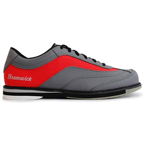 Brunswick Mens Rampage Bowling Shoes Right Hand- Grey/Red