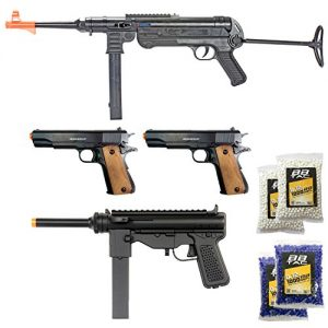 World War II Collection of 4 Airsoft Guns