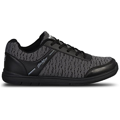 KR Strikeforce Mens Flyer Mesh Bowling Shoes- Black/Steel