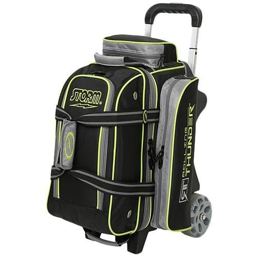 Storm Bowling Products 2 Ball Rolling Thunder Bowling Bag- Black/Gray/Lime