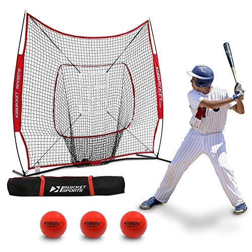 Rukket 6pc Baseball/Softball Bundle | 7x7 Hitting Net