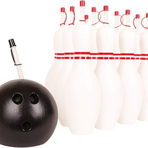 12 Bowling Pin & Bowling Ball Sippy Cups w/ Straws
